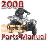 Thumbnail Arctic Cat 2000 500 CC AUTOMATIC RED A2000ATM4BUSR [Parts Manual]