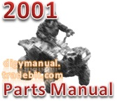 Thumbnail Arctic Cat 2001 250 2X4 RED A2001ATE2AUSR ATV 250 300 CC [Parts Manual]